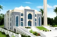 দ্রুতগতিতে চলছে ভোলার সাত মডেল মসজিদ নির্মাণকাজ
