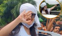 মুক্তি পেয়ে উচ্ছ্বাস পরীমণির, হাতের তালুর 'লেখা' নিয়ে কৌতূহল