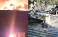আগুনে পুড়লো কলসকাঠী ইউপি চেয়ারম্যানের শতবর্ষী ঘর