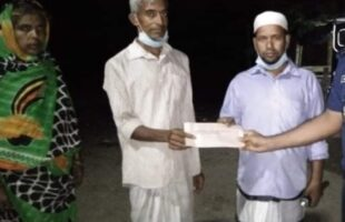 হতদরিদ্র বাবুলকে বরিশাল রেঞ্জ ডিআইজির আর্থিক সহায়তা প্রদান